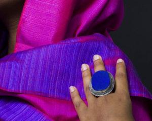 Lapis lazuli ring.