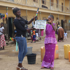 "On set filming ""In Love & Ashes"" at an IDP Camp in Jos, Nigeria."