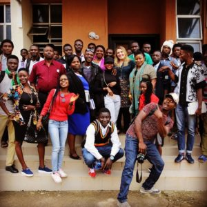 PIOTPs Muffy Potter and the Producing Masterclass she taught at the Nigerian Film Institute.