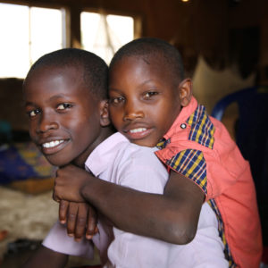 Brothers at the Favoured Sisters orphanage in Nigeria.